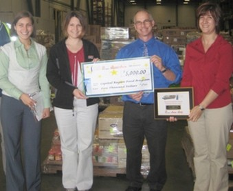 Associated Grocers of New England donates $5000 to the Capital Region Food Program 4/12/10.