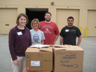 CRFP Year-Round Distribution Chair Erin Reardon and a team of volunteers, 2011 Stamp Out Hunger Food Drive, 5/14/11