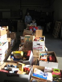 Over 10 tons of non-perishable food items were donated by local businesses, community organizations, and schools as part of the 2010 Holiday Food Basket Project.