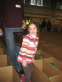 Over 1100 volunteers, of all ages, participated in the 2010 Holiday Food Basket Project.